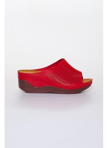Dilimler Ayakkabı Terlik Kırmızı